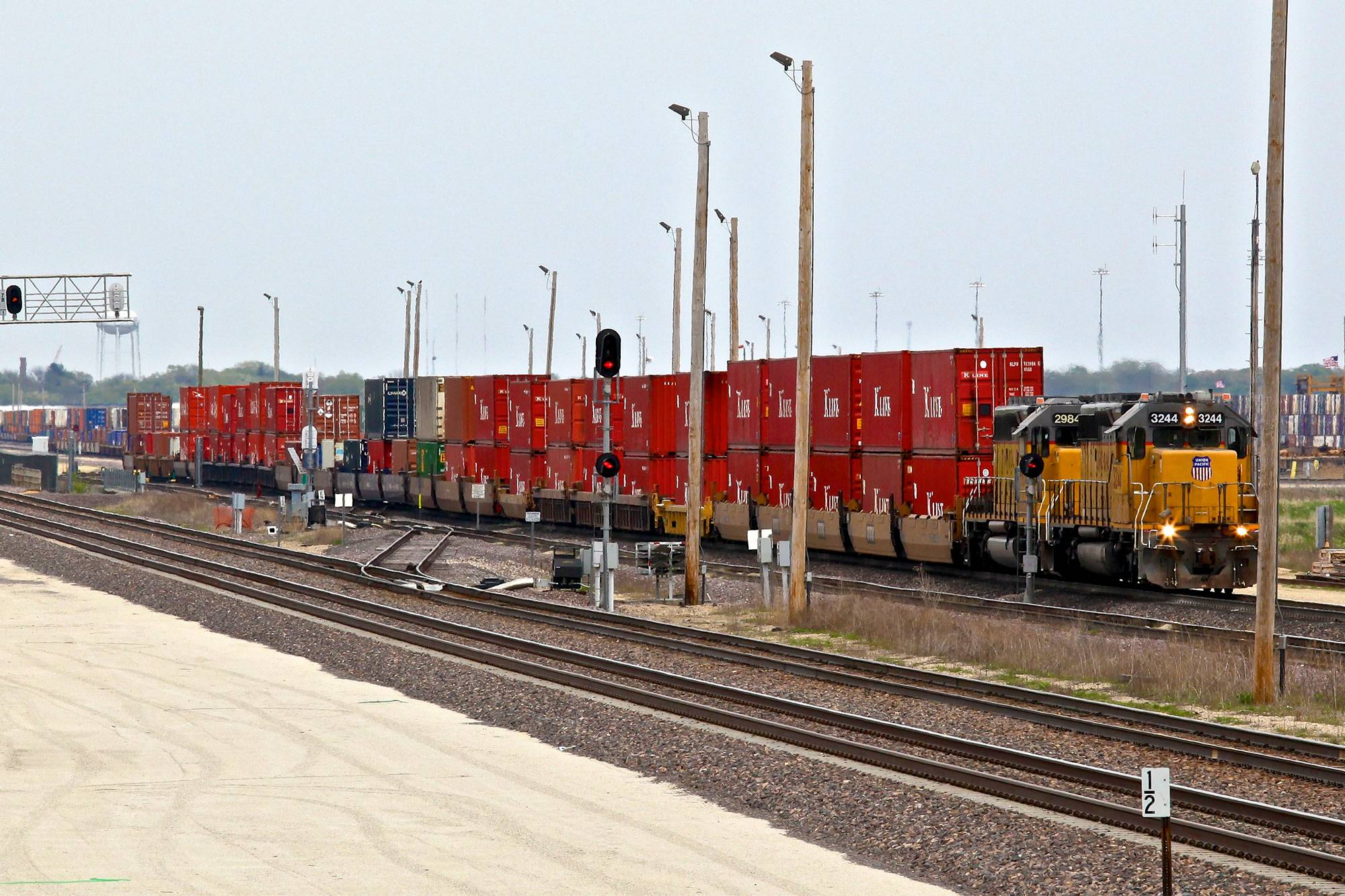 Union Pacific Global III Intermodal Yard - Rochelle, IL.